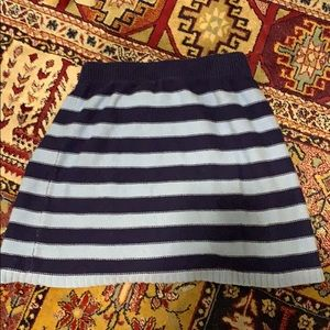 A knitted striped skirt from Old Navy.